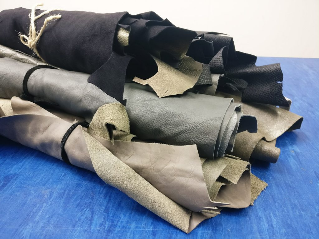 Grey, gold and black leather bundles - available at The London Leather Workshop