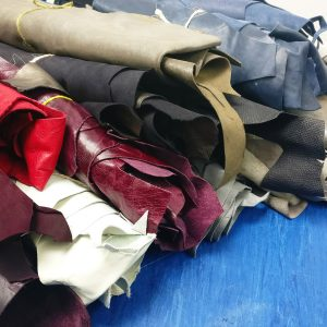 Mixed colours leather bundles - available at The London Leather Workshop