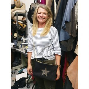 THE LONDON LEATHER WORKSHOP - one of our lovely students with her new bag