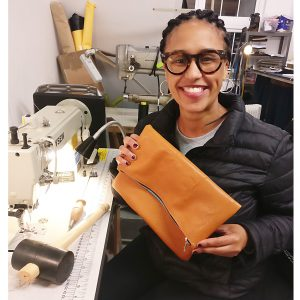 THE LONDON LEATHER WORKSHOP - personalised folded clutch