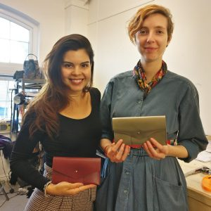 THE LONDON LEATHER WORKSHOP - some of our lovely students with their new leather wallets